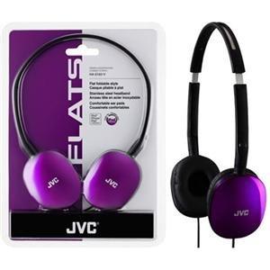 JVC America HAS160V FLAT Headpones Violet