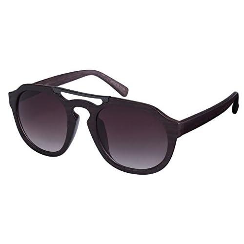 e4e966c9d2a Edge I-Wear Retro Rounded P3 Style Aviators Wood Temple Sunglasses  540921WD-AP 70