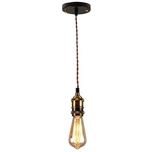 modern glass vintage fixture lamp with black wire hoder lights hanging pendant cord light item