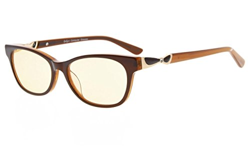 fa2413a4545b Eyekepper Ladies' Blue Light Blocking Glasses-Computer Glasses-Acetate  Frame for Small Womens