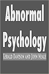 abnormal psychology gerald davison and john neale pdf