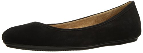 Naturalizer Women's Brittany Ballet Flat, Black Suede, 8 W US from Naturalizer