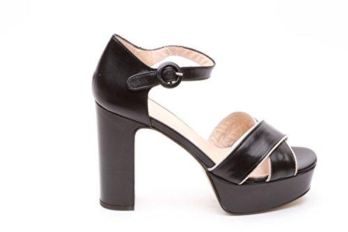 Scarpe italiane sandali donna tacco alto nero