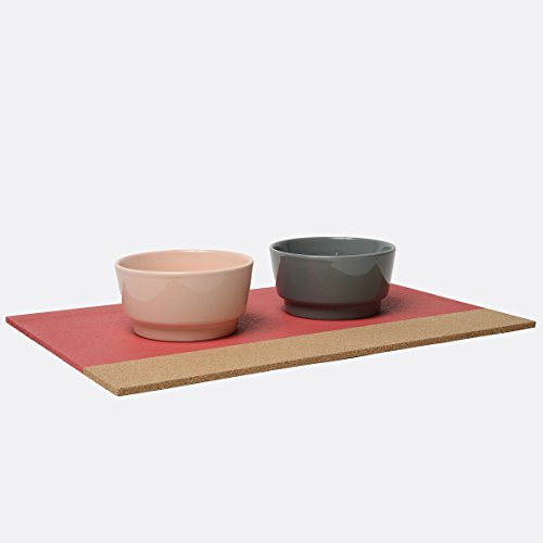 Image of Waggo Gloss Ceramic Dog Bowl (Small, Rose)
