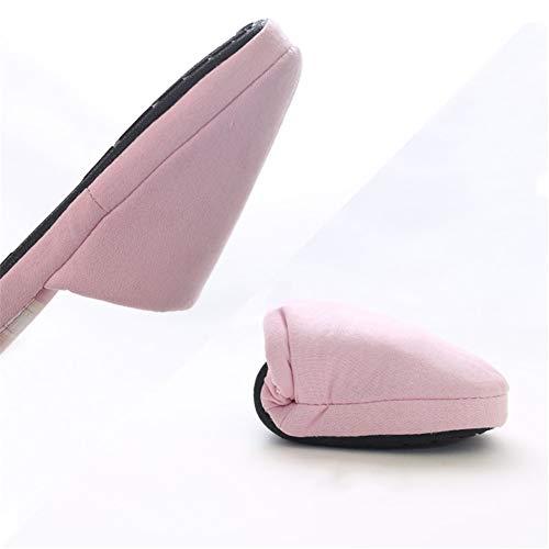 Da Di Al Antiscivolo Dimensioni Fondo Grandi Cotone Rosa A Autunno Pantofole Donna Coperto Inverno Niaa Piatto E In 0Swv5qx