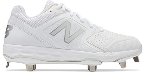 New Balance Women's Velo V1 Metal Softball Shoe White, 11 B US