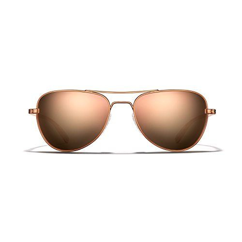 ROKA Rio Ti Performance Aviator Sunglasses for Men and Women Copper Frame - Bronze Lens with Rose Gold - Sunglasses Ti
