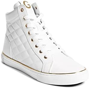 Guess Men's Moto Quilted High-Top Sneakers