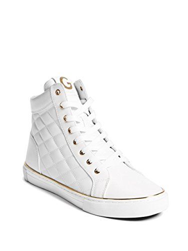 G by GUESS Mens Moto Quilted Metallic Trim High-Top Sneakers
