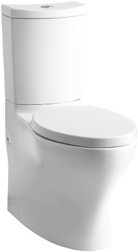 Kohler K-3723-0 Persuade Curv Comfort Height Two-Piece Elongated Toilet, White (Toilet seat not included)
