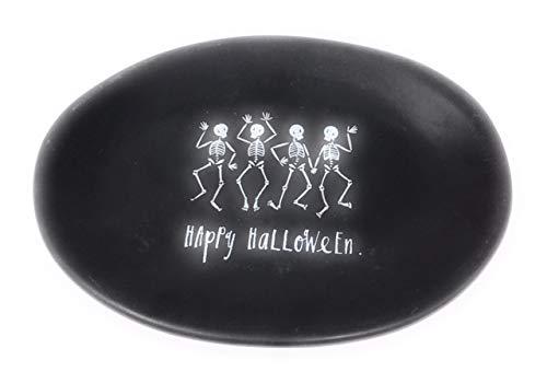 Rae Dunn Black Happy Halloween Plate