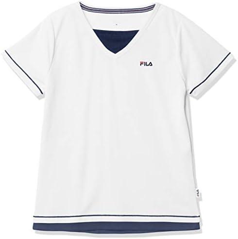 半袖Tシャツ ワンポイントフェイクTEE 吸水 速乾 UVカット 通気 FL5765 レディース