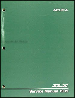 1999 Acura SLX Repair Shop Manual Original
