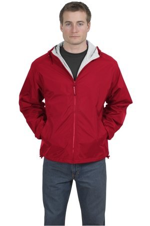 Team Port (Port Authority Team Jacket (JP56) Red/Light Oxford - Large)