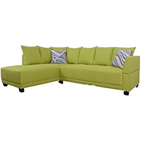 Eternity Home Neon Sectional Left Facing Sofa Yellow