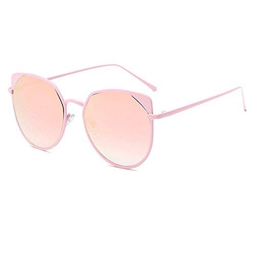 Aoligei Oeil de chat femmes fashion métalliques lunettes de soleil tendance lunettes de soleil réfléchissantes rue PAT B