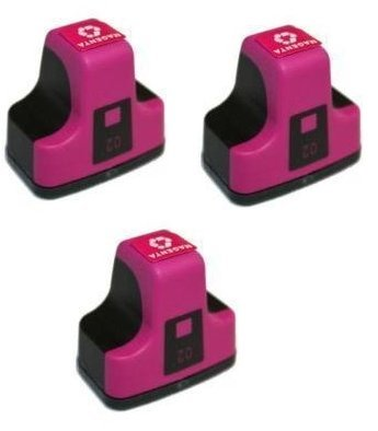 3 Pack Elite Supplies ® Compatible Inkjet Cartridge Replacement for HP02 HP-02XL, HP C8721W, HP Photosmart (3 MAGENTA)
