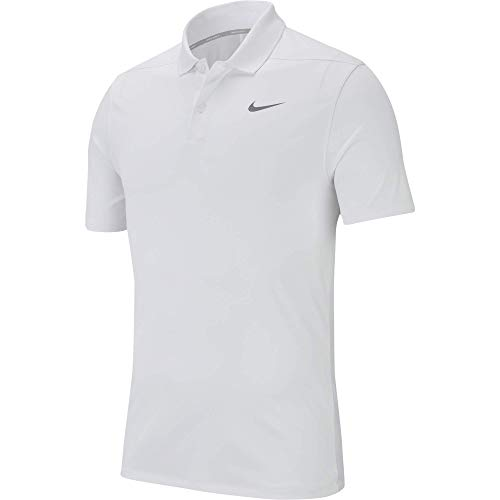 Buy white golf shirts men large