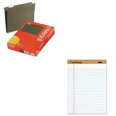 (KITTOP71533UNV14115 - Value Kit - Tops The Legal Pad Plus Ruled Perforated Pads (TOP71533) and Universal Hanging File Folders (UNV14115))