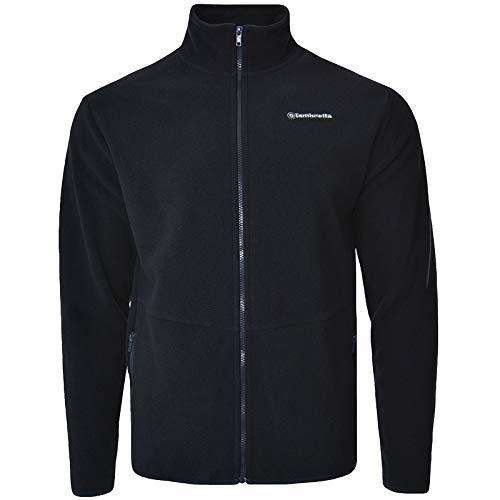 Lambretta Mens Full Zip Polar Fleece Long Sleeve Jacket - Navy - S