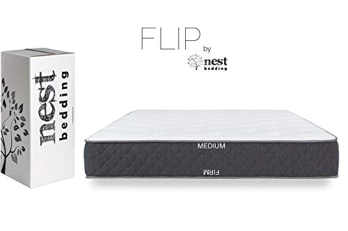 FLIP by Nest Bedding, Amazon-Exclusive Double Sided Hybrid Bed in a Box, Cooling Gel Foam and Caliber Coil, CertiPUR-US, 10-Year Warranty, Made in The USA