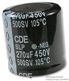 CORNELL DUBILIER SLP271M450H5P3 CAPACITOR ALUM ELEC 270UF, 450V, 20%, SNAP-IN
