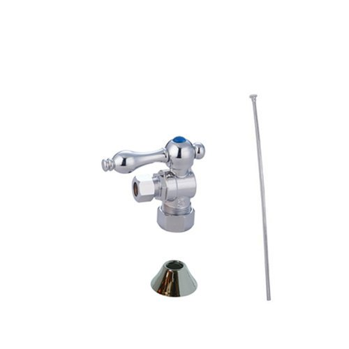 picture of Kingston Brass CC53301TKF20 Traditional Plumbing Toilet Trim Kit, Polished Chrome