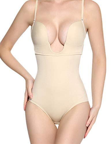 Women Seamless Shapewear Slimming Bodysuit Firm Control Body Shaper Briefer Nude