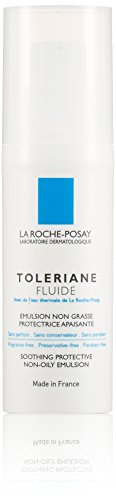 La Roche-Posay Toleriane Fluide Oil-Free Face Moisturizer Soothing Protective Emulsion for Sensitive Skin, 1.35 Fl. Oz. Daily Fluid