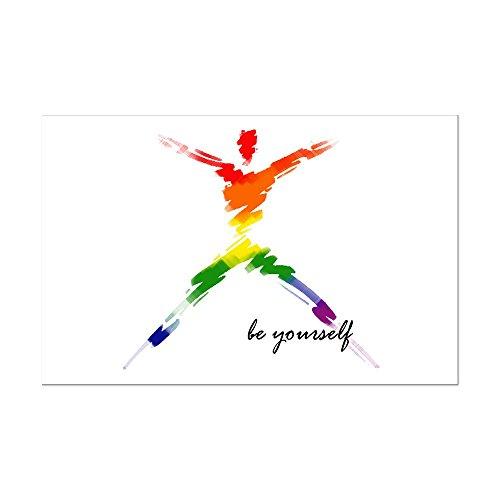 (CafePress - Gay Pride - Be Yourself - Mini Poster Print)