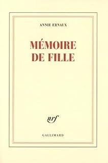 Mémoire de fille, Ernaux, Annie
