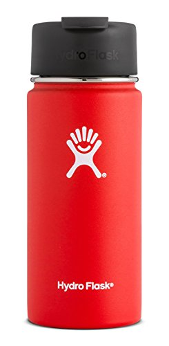 Hydro Flask 16 oz Double Wall Vacuum Insulated Stainless Steel Water Bottle / Travel Coffee Mug, Wide Mouth with BPA Free Hydro Flip Cap, Lava