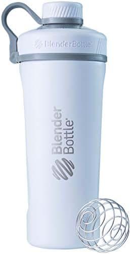 BlenderBottle Radian Insulated Stainless Steel Shaker Bottle, Matte White, 26-Ounce - C02091