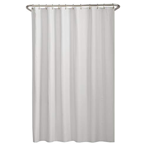 MAYTEX Microfiber Fabric Shower Curtain Liner, 70in x 72in, White