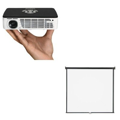 KITAAXKP60001QRT670S - Value Kit - Aaxa Technologies P300 Pico Projector (AAXKP60001) and Quartet Wall or Ceiling Projection Screen (QRT670S)