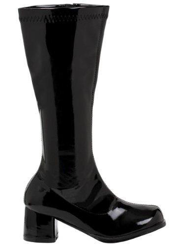 Girls Black Gogo Boots Large -