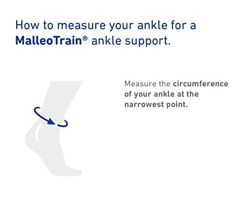 Bauerfeind - MalleoTrain - Ankle Support Brace - Helps Stabilize The Ankle Muscles and Joints for Injury Healing and Pain Relief - Left Foot - Size 2 - Color Titanium by Bauerfeind (Image #4)
