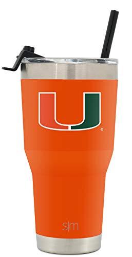 Simple Modern College 30oz Tumbler Straw Miami ()