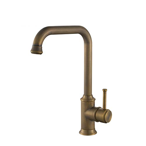 NFY Simple Cold and Hot Water Tap Single Handle Sink Faucet Brass Waterfall Spout Faucet Applicable Bathroom