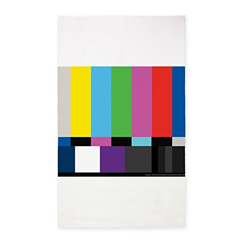 [CafePress - SMPTE Standard Definition Television Color Bars EG - Decorative Area Rug, Fabric Throw Rug] (Smpte Color Bars)