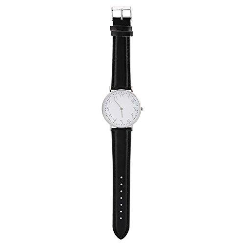 Brino Watch, 2 Colors Fashionable Female Male Quartz Wristwatch Analog PU Band Metal Case (Fashionable Pu Band)