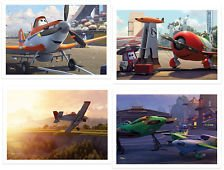 Disney Pixar Planes Exclusive Limited Edition 2013 Movie Lithograph Set Including 4 Lithos & Storage Folder