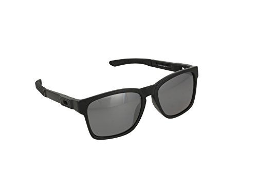 Oakley Men's Catalyst OO9272-09 Polarized Iridium Square Sunglasses, Matte Black, 55 - Oakley Catalyst