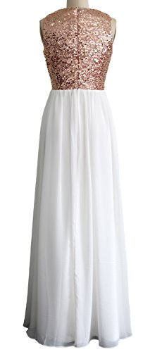 Königsblau Evening Formal Dress O Women Long Chiffon Bridesmaid Gown Neck Sequin MACloth HPgWxF1