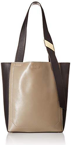 - Calvin Klein womens Calvin Klein Karsyn Nappa Leather Belted North/South Tote, molasses, One Size
