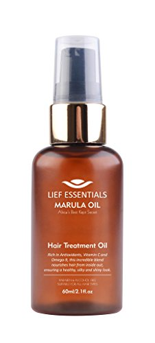 LIEF ESSENTIALS Hair Treatment Oil with Pure Organic African Marula Oil Suitable For All Hair Types Cruelty-free Pump Dispenser 60ml from LIEF ESSENTIALS