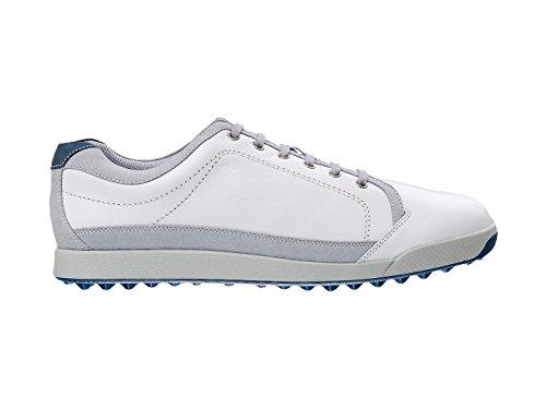 Footjoy Mens Contour Casual Bianco / Grigio Chiaro