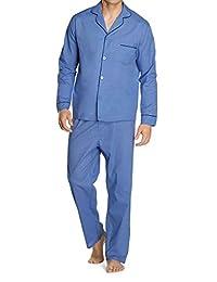 Hanes Mens Big-Tall Woven Pajama Set