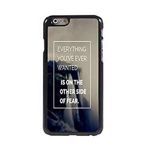LCJ Everything You Want Design Aluminum Case for iPhone 6 Plus , Black-Blue
