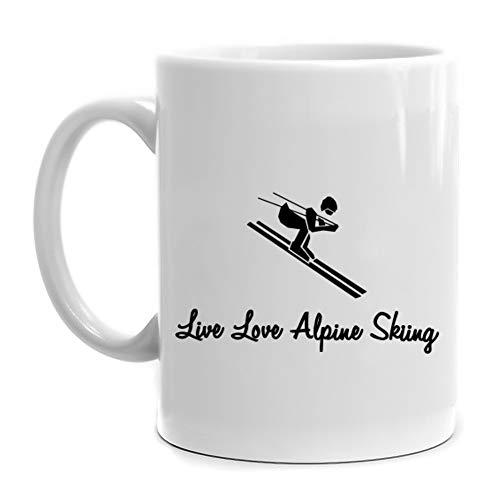 Eddany Live love Alpine Skiing Mug 11 ounces